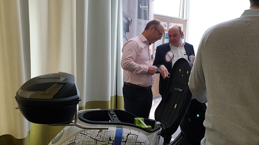 Foto FAMOS User Forum 2019: e-bility präsentiert den E-Roller aus dem gemeinsam Projekt