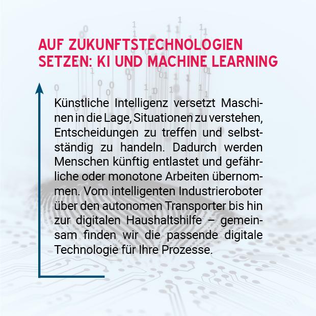 Bild: Auf Zukunftstechnologien setzen: KI und Machine Learnin