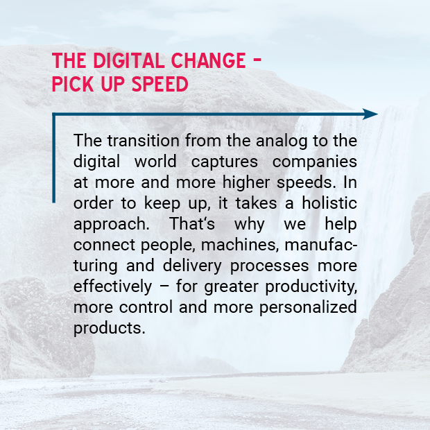 picture: the digital change – pick up speed