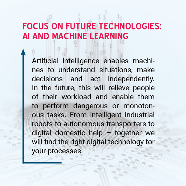 picture: focus on future technologies: AI and machine learning