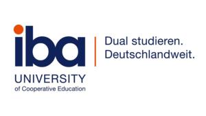Logo des Praxispartners iba university