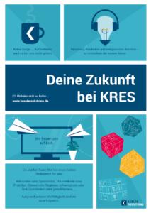 Flyer-Vorderseite Karriere bei Kessler Solutions 2020