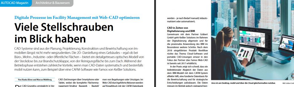 Foto Fachartikel AUTOCAD & Inventor Magazin, Ausgabe 4-2020, Seite 46f