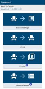 Screenshot Dasboard App Web-Inventar