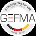 Offizielles GEFMA-Prüfziegel zur Zertifizierung von FAMOS 4.5, gültig bis September 2022